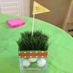 Pinterest idea for golf party decorations
