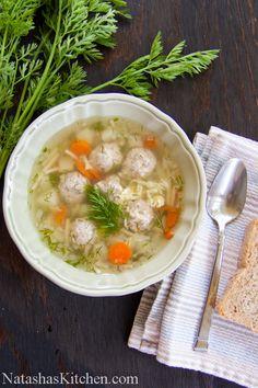 Mom's Meatball Soup Recipe | NatashasKitchen.com