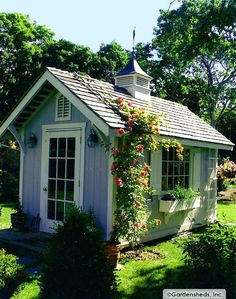 Lady Annes Charming Cottage: More Charming Garden Sheds. - My Cottage Garden Backyard Sheds, Outdoor Sheds, Garden Sheds, Outdoor Spaces, Backyard Storage, Outdoor Storage, Garden Tools, Outdoor Living, She Sheds