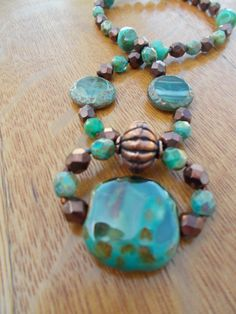 Turquoise and Bronze by Penel