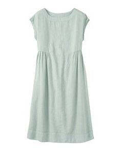 WASHED LINEN MIDI DRESS by TOAST