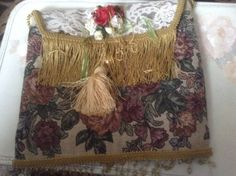 Victorian olive green tapastry purse or tote by cindysvictorian