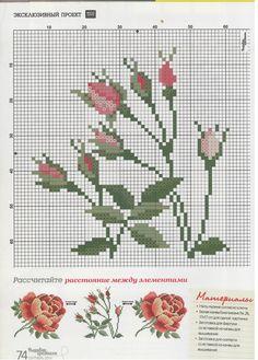 розы3 rose-cross stitch