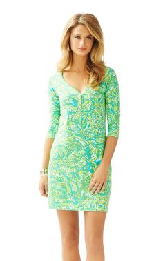 Palmetto V-Neck T-Shirt Dress
