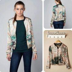 Oriental print jacket
