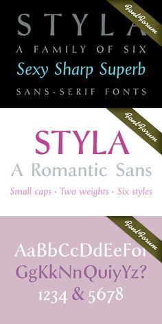 Styla Caps Regular. Sans Serif Fonts. $25.00