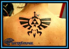 Zelda Triforce - 9-19-12 - Tattoo - www.Jackienewman.com - Custom tattoos, Paintings, polymer clay, wood burning and other crafts!