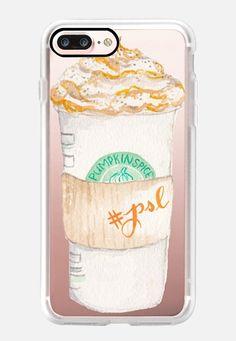 Pumpkin Spice Latte Starbucks Coffee Mug Watercolor iPhone 7 Plus Hülle by Cami…