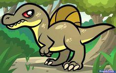 How to Draw a Spinosaurus by Dawn Darko / DragoArt