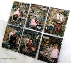 Χαρτοκατασκευές και Χαλάρωση!: Vintage Artist trading cards, for Scrapiniec...