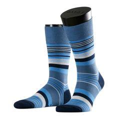 Falke Multistripe herensokken | venive blue