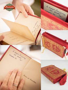 """Bernadette Hartl zaubert aus alten Büchern ganz besondere Handtaschen, Clutches oder sogar Aktentaschen.  Hier ein Beispiel: """"Sturm und Sonnenschein"""" war ein Geschenk von Bruder Ossi an seine Schwester zu Weihnachten 1946, wie die Widmung des Buches verrät. Diesen schönen, persönlichen Teil des Buches habe ich in das Innere der Tasche appliziert. Dieses ist ein sehr kleines, aber ganz besonderes Exemplar unter den Bernanderl Taschen. Clutches, Card Holder, Wallet, Cards, Old Books, Sunshine, Brother, Handbags, Projects"""