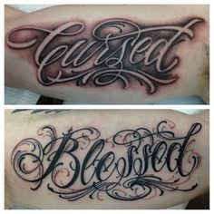 "LOVE the way ""Cursed"" is created by the shading around it. - by BJ Betts"