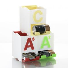 Image of Cool Things to 3D Print: Stackable Battery Holders