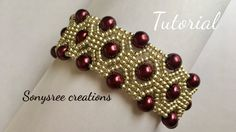 DIY Pearl Beaded bracelet, square Stitch (TUTORIAL)