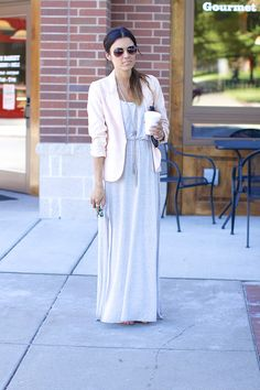 Maxi plus blazer Maxi Outfits, Cute Outfits, Fashion Outfits, Modest Fashion, Love Fashion, Look Blazer, Ladylike Style, Fade Styles, Dressed To Kill