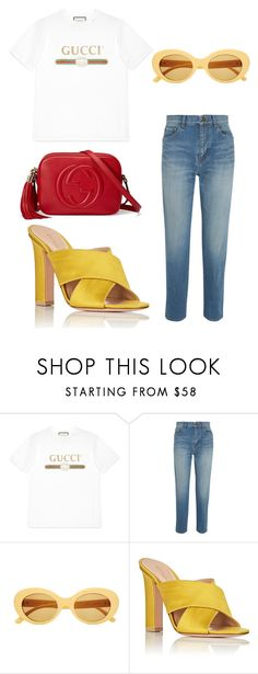 """Untitled #114"" by stoutjami on Polyvore featuring Gucci, Yves Saint Laurent and Gianvito Rossi"
