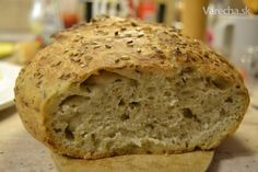 Domáci chlieb, takmer bez práce (no knead bread) Slovak Recipes, Russian Recipes, Bread Recipes, Good Food, Yummy Food, No Knead Bread, Bread And Pastries, Creative Food, Bread Baking