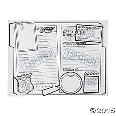 Color Your Own All About Me Agents of Truth VBS Posters, Coloring Crafts, Crafts for Kids, Craft & Hobby Supplies - Oriental Trading - Discontinued