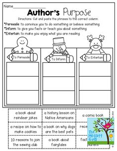 Author's Purpose and TONS of other great resources! Library Lessons, Reading Lessons, Reading Strategies, Reading Activities, Reading Skills, Teaching Reading, Reading Comprehension, Comprehension Strategies, Guided Reading