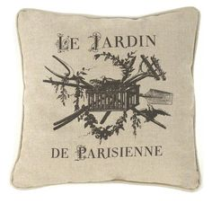 French Country Le Jardin de Parisienne Square Toss Pillow 18x18 ($94) ❤ liked on Polyvore featuring home, home decor, throw pillows, flowered throw pillows, paris home decor, square throw pillows, french country home decor and provence home decor