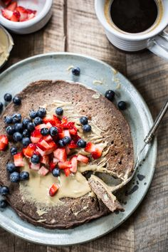 Giant Buckwheat Pancake breakfast recipe | edibleperspective.com