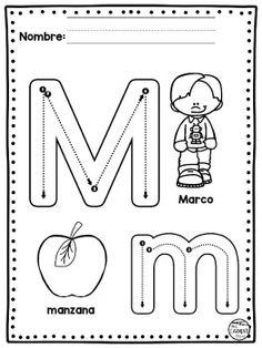 Preschool Letter M, Letter M Activities, Preschool Writing, Writing Practice Worksheets, Alphabet Worksheets, Preschool Worksheets, Preschool Activities, Alphabet Writing, Pre Writing