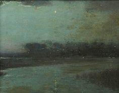 """The Evening Star,"" L. Birge Harrison, oil on board, 8 x 10"", private collection."
