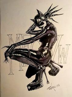 Catwoman art by Luca Panciroli
