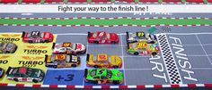 great idea for a game for my future classroom!! Each student gets a car and we see who wins the race!!