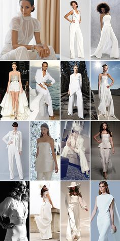 Bridal Pants suits are best worn by brides with strong personalities, a feel for current contemporary fashion and the confidence to wear it with flair.