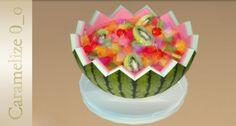 Fruit Dessert clutter at Caramelize via Sims 4 Updates
