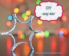 diy easy christmas decoration foil star, christmas decorations, crafts, seasonal holiday d cor