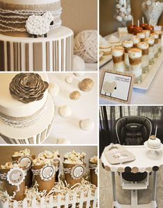 """This neutral palette """"Little Lamb"""" party is absolutely gorgeous! Check out more on #TheCelebrationShoppe and #HalfBaked the cake blog"""
