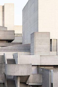 The Royal National Theatre in London, 1976 : brutalism Landscape Architecture Design, Education Architecture, Classical Architecture, Contemporary Architecture, Interior Architecture, Building Architecture, Museum Architecture, Interior Design, Royal National Theatre