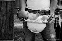 Newborn photo, father and son photo ©Ashley McGiffen Photography