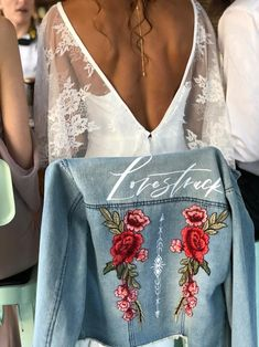 LOVESTRUCK – Bash Creative Design Floral Denim, Floral Tops, Baby Girl Announcement, Baby Announcements, Painted Leather Jacket, Backyard Wedding Decorations, Sequin Patch, Diy Wedding Projects, Diy Projects