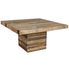 The San Quentin Tahoe Square Dining Table - Rustic Dining Table