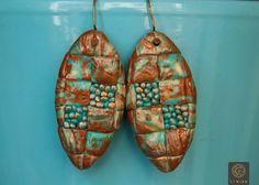 Free shipping! Bohemian Polymer clay Earrings Art Deco Green earrings Bohemian Jewelry Boho Chic Jewelry Earrings for Womens Unique Gift by Etniika on Etsy