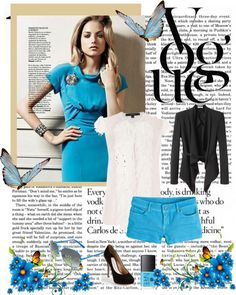 Black and Blue, created by carem04 on Polyvore