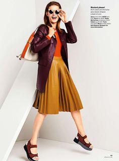 Giedre Dukauskaite by Sebastian Kim for Glamour US November 2014