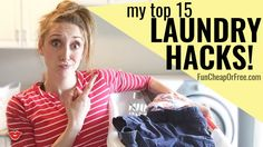 15 laundry hacks everyone should know! Great tips + video! From FunCheapOrfree.com...