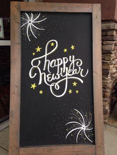 chalkboard new year drawings