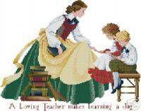 A loving teacher makes learning a joy