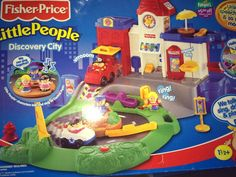 New 2002 3 Fisher Price Little People Discovery City Town Fire Police Set 77702 | eBay