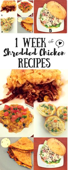 You can use shredded chicken in almost any dinner recipe. I share a whole week of shredded chicken recipes, including my favorite BLT Chicken Salad Sandwich