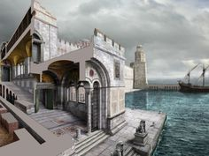 Byzantine Art and Architecture in Ancient Istanbul Byzantine Architecture, Classical Architecture, Ancient Architecture, Art And Architecture, Architecture Illustrations, Battle Of Adrianople, Library Of Alexandria, Roman City, Roman Era