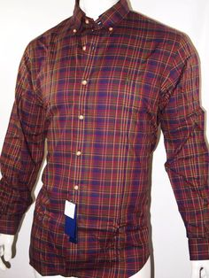 Polo Ralph Lauren plaid twill long sleeve shirt size large new with tags #PoloRalphLauren #ButtonFront