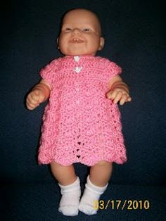Baby Ripple Dress free crochet pattern