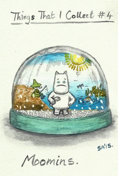 Random Thoughts of a Bored Artist: 2.0 Day 85 - Multiple Moomins